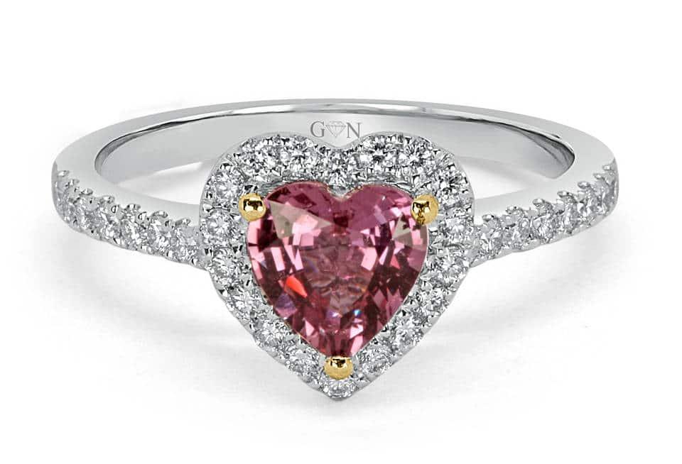 Ladies Halo Design Engagement Ring - R1084 - GN Designer Jewellers