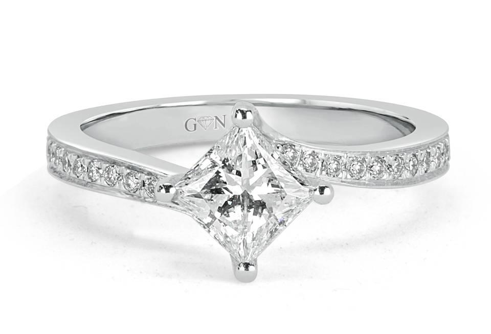Ladies Solitaire Engagement Ring - R1118 - GN Designer Jewellers