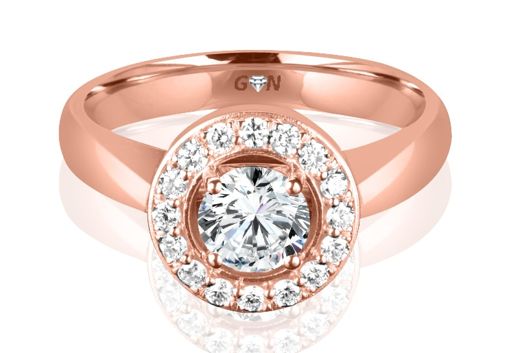 Ladies Coloured Stone Design Engagement Ring - R11785 - GN Designer Jewellers