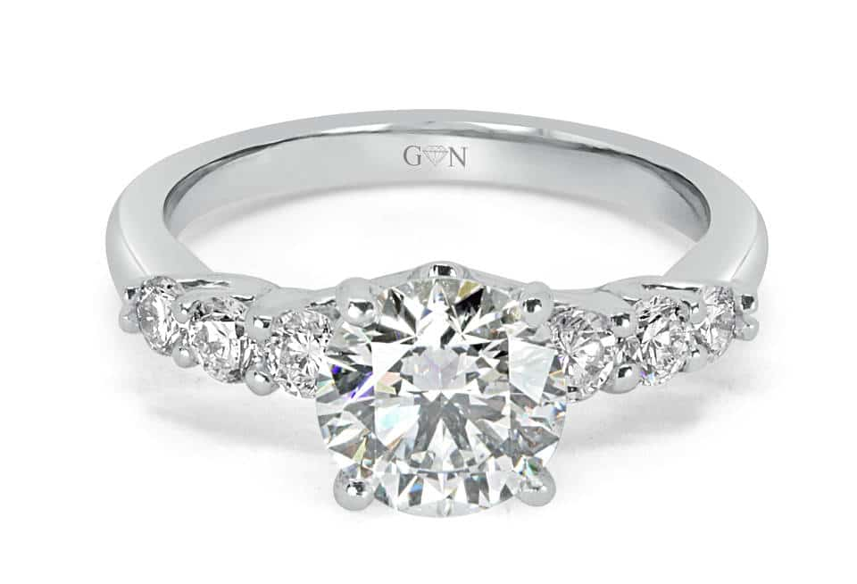 Ladies Solitaire Engagement Ring - R14284 - GN Designer Jewellers