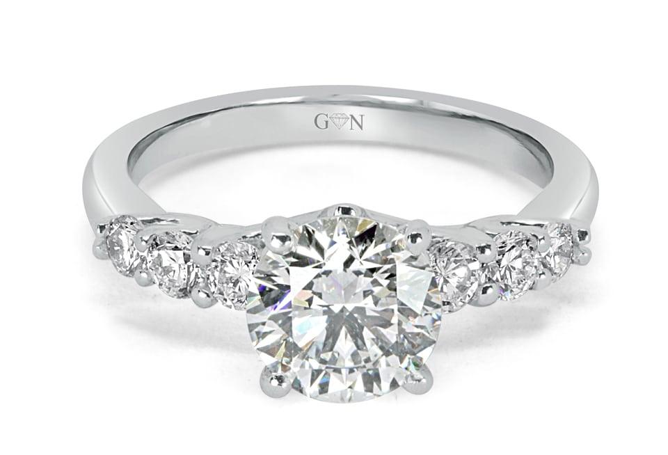 Ladies Solitaire Engagement Ring - R14284 - GN Designer Jewellers