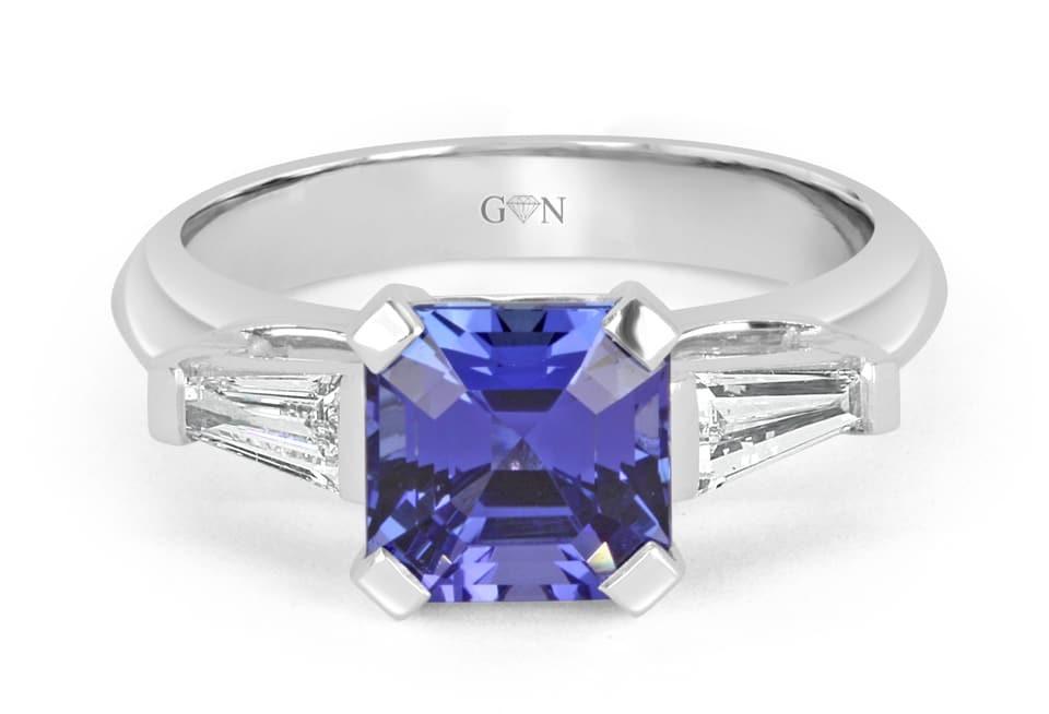 Ladies Coloured Stone Design Engagement Ring – R1070 - GN Designer Jewellers
