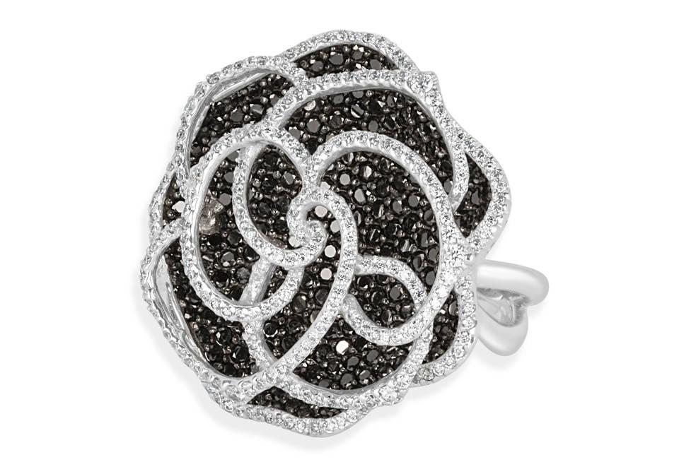Ladies Multi Set Design Celebration Ring - 734 - GN Designer Jewellers