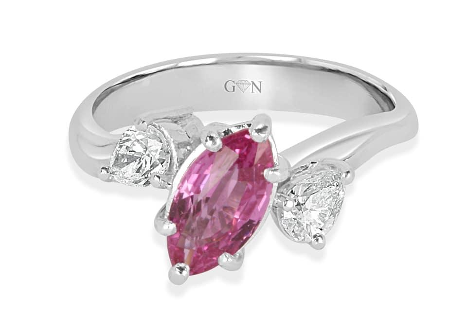 Ladies Coloured Stone Design Engagement Ring – R761 - GN Designer Jewellers