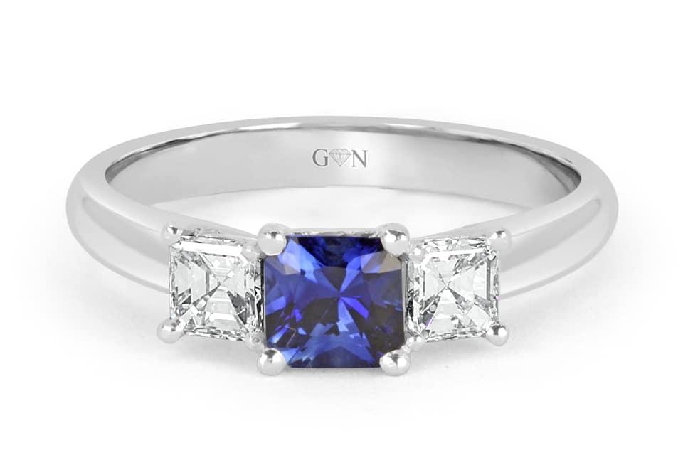 Ladies Coloured Stone Design Engagement Ring – R852 - GN Designer Jewellers